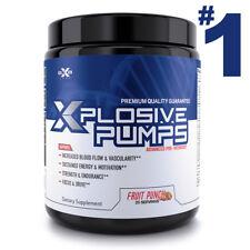 XPLOSIVE PUMPS Pre-Workout Powder Stronger than C4 Extreme 25 Servings Punch