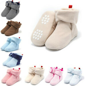 Baby Boy Girl Boots Shoes Newborn Infant Winter Warm Soft Non-slip Shoes 0-18M