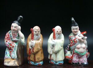 Antique Figure Character Chinese Buddha Durability Hand Painted