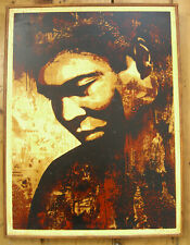 SHEPARD FAIREY Mohammed Ali Print on WOOD Signed AP Obey Giant HPM Canvas