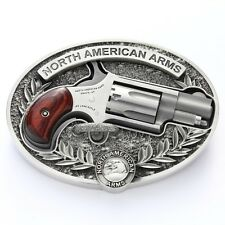 NORTH AMERICAN ARMS MINI RARE PISTOL HOLSTER BELT BUCKLE 22 SHORT LONG