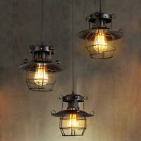 Vintage Industrial Retro Loft Glass Iron Ceiling retro wall lamp Pendant Light