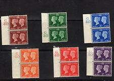 1940 Centenary of first adhesive postage stamp. Complete set control pairs MLH