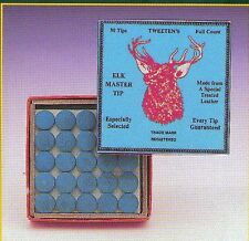 6 x 9mm Elkmaster Snooker/Pool Cue Tips