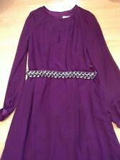 Bnwt🎀Coast🎀Size 10 Magenta Anise Long Sleeve Maxi Dress Wedding Bridemaid New