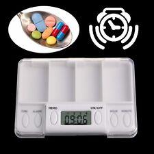 Pills Reminder Medicine Alarm Electronic Timer Box Case Organizer 4 Grid Hot