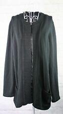 Jones New York Cardigan Womans Plus Size 1X Black Open Front Long Sleeve