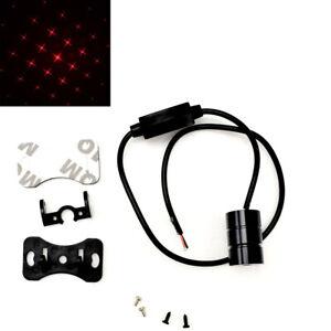 Red LED Rear Fog Light Tail Laser Brake Light Star Bling Warning Lamp A V