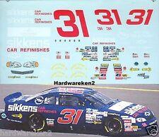 NASCAR DECAL #31 SIKKENS AKZO NOBEL 1997 BGN MONTE CARLO DALE EARNHARDT JR