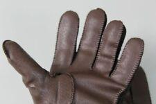 unbenutzte Vintage Lederhandschuhe - Gr. L - Braun gefüttert - ca. 123 Gr.  /S12