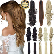 Clip In Wrap Around Ponytail As Human Hair Extension Piece Glossy Fashion Soft