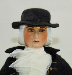 VINTAGE Folk Art Doll WILLIAM PENN Artist Made HISTORICAL
