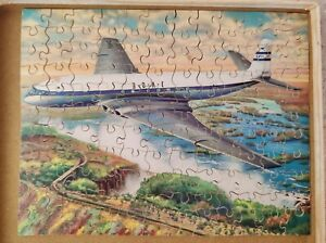 Complete Victory Wooden Jigsaw Puzzle BOAC Comet Jetliner Over Victoria Falls