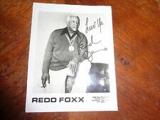 REDD FOXX SIGNED AUTOGRAPHED FRAMED PROMOTIONAL PHOTO 4 x 5 super RARE