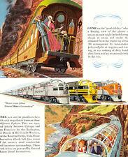 1949 Ad ~ GM Railroad RR Diesel Locomotive ~ Burlington, Rio Grande, Zephyr, etc