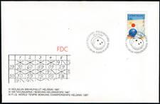 Finland FDC 1987,  World Bowling Championship 1987,Mint