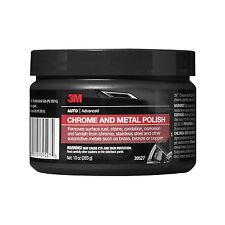 3M Chrome & Metal Polish Wheel Cleaner Paste 10 oz Tub - Car Auto Detail 39527