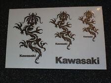 Aufkleber Bogen 3x Kawasaki-Drachen,   *NEU*