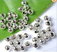 wholesale 2/3/4/5/6/7/8MM silver golden bronze black metal round spacer beads