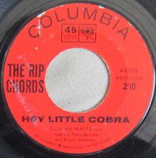 The Rip Chords - Hey Little Cobra, Vinyl, 45rpm,1963, 4-42921, Very Good