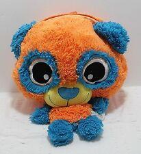 "Big Head Panda Backpack Plush Travel Buddy Overnight Bag 17"" Orange"
