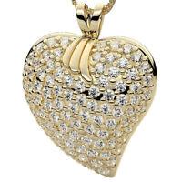 Diamant Anhänger Herz Collier 750 18K Gelbgold 1,50 Karat Brillanten IF-SI1/D-H