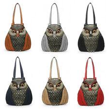 STATEMENT CUTE FAUX LEATHER RETRO 3D OWL ANIMAL HANDBAG TEXTURED SHOULDER BAG