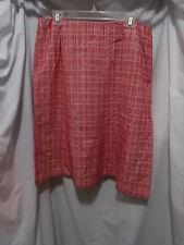 INC Woman International Concepts Hepburn Red & White Skirt, 16W Lipstick Red