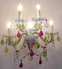 Applique en Cristal 5-Branches Baroque Multicolore