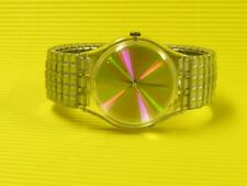 Swatch TIME TO DANCE mit SILBERNEM Flexarmband GK244 in NEU / NEW - Discokugel