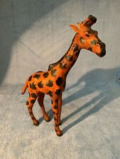 Vintage Handcrafted Leather Giraffe 10.5� tall figurine statue - Made in India