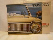 Catalogue  voiture  pub auto  prospectus Toyota Corola 1100
