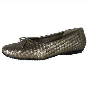 Trotters Womens Carin Slip On Loafer Flat Shoes, Pewter Metallic, US 6.5