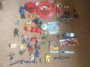 Joblot Mixed Collection Childrens Action Figures Toys Animals Powerrangers