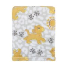 Disney Lion King Plush Grey, Gold Baby Blanket  Simba - New