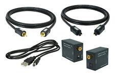 SunshineTronic Koaxial-Optisch Wandler + Koaxial Kabel + Toslink + USB-Kabel 1.5