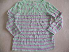 girls CREW CUTS SWEATER purple aqua shirt KNIT polka dots BOAT COLLAR size 12