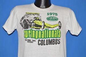 vintage 70s COLUMBUS 1975 SPRINGNATIONALS NHRA DRAG RACING t-shirt MEDIUM M