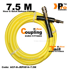 Hi-Viz Hose + Euro Tail+ Euro Coupling- Hi Flow - Air Line Fittings