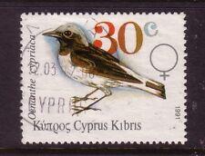BIRDS on Stamps....  Cyprus  1991  30c bird  used
