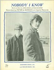 Peter & Gordon sheet music Nobody I Know 1964 Lennon and McCartney Beatles