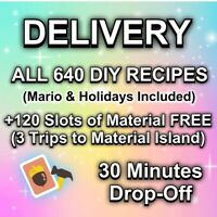 Animal Corssing Horizons FULL COMPLETE ALL DIY Recipes Cards 640 - DELIVERY