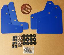 StreetRays Mud Flaps Set BLUE w/ Hardware Kit & Logo for 10-14 VW MK6 Golf GTI