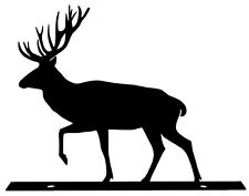 Elk Silhouette Mailbox Topper / Sign - Powder Coated Steel - USA Made