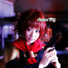 Final Fantasy type-0 Cater Cosplay Anime Rote Welling Perücke 25cm Halloween