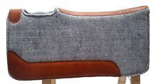 Western Sattelpad aus Filz hoher Qualität, Grau, mit Neopren