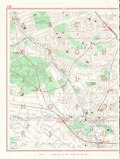 1964  VINTAGE LONDON STREET MAP - PLAISTOW,DOWNHAM,BROMLEY,BECKENHAM