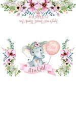 5 x Baby Elephant Floral Personalised Chocolate Wrapper 4x6 For Aldi Chocolates