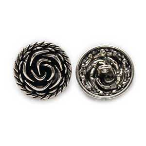 5pcs Retro Rose Round Metal Buttons for Clothing Repair Sewing Handmade Decor