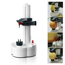 UK Electric Potato Peeler Automatic Pear Apple Fruit Cutter Slicer Kitchen Tool